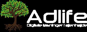 Adlife - PNG - Hvid tekst i logo